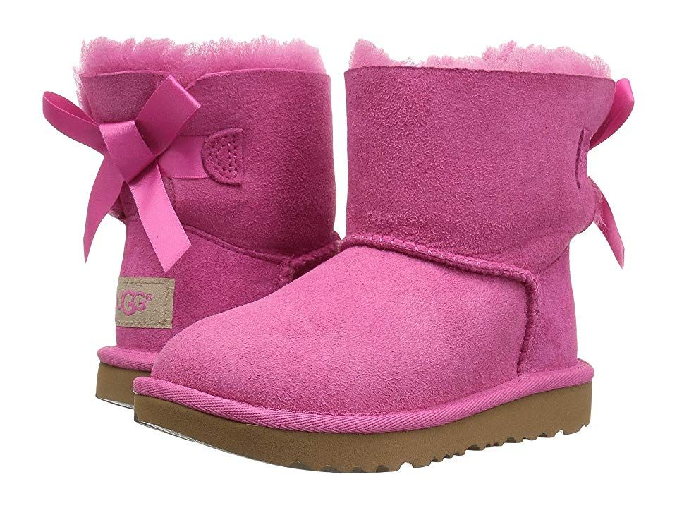 31a0a0fadad UGG Kids Mini Bailey Bow II (Toddler/Little Kid) Girls Shoes Pink ...
