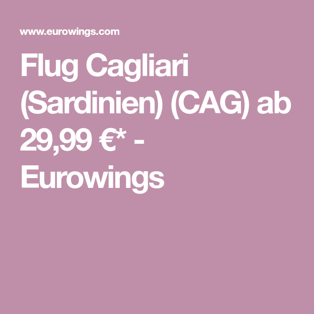 Flug Cagliari