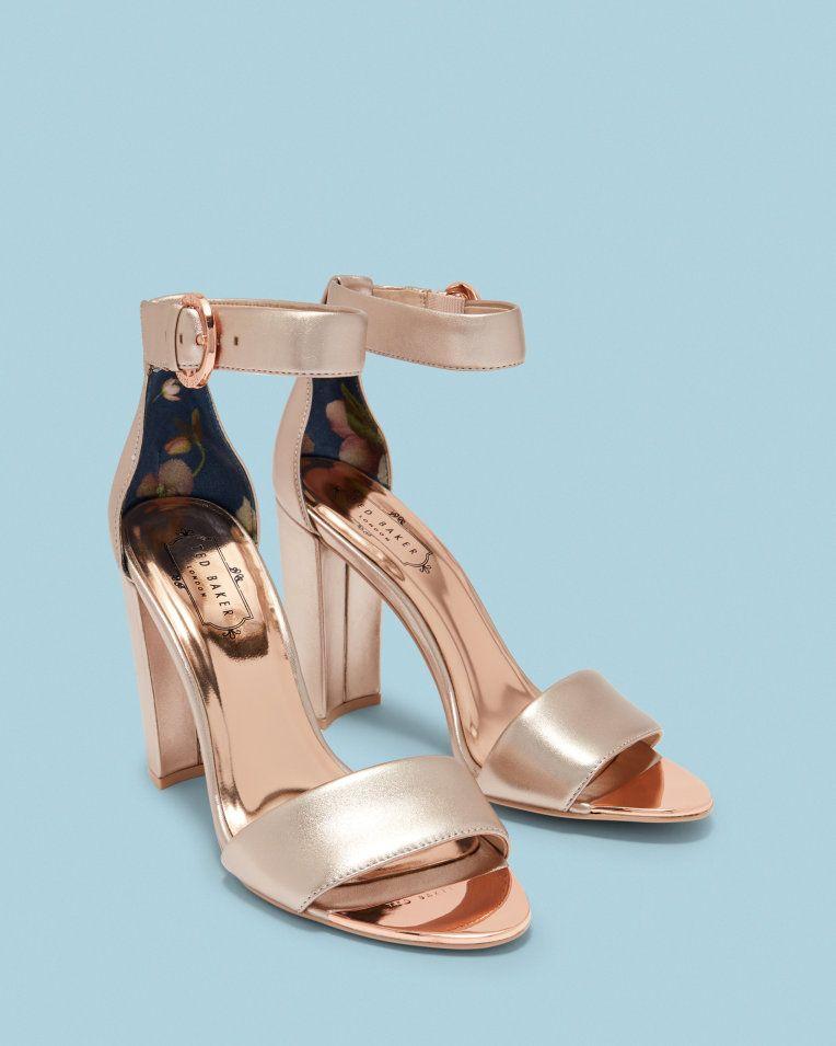 e38166c84 Strap heeled sandals - Rose Gold