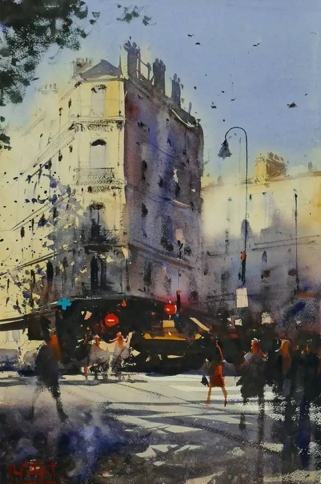 Alvaro Castagnet Paris Corner Watercolor Paintings Easy
