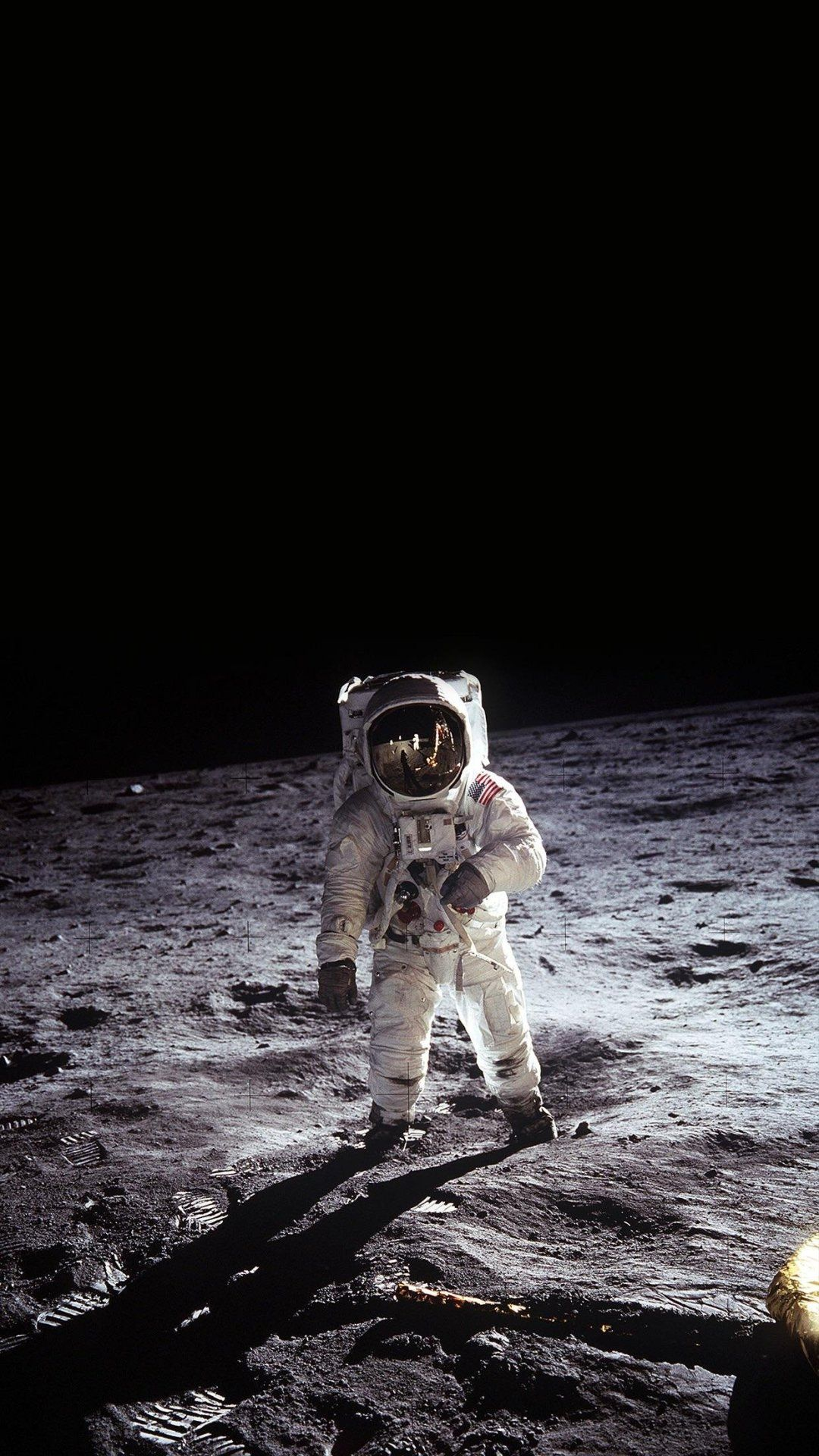 Pin On Moon Astronaut on moon with flag wallpaper