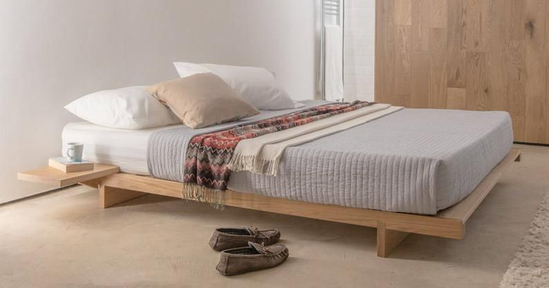 Low Fuji Attic Platform Wooden Bed Frame By Get Laid Beds Low