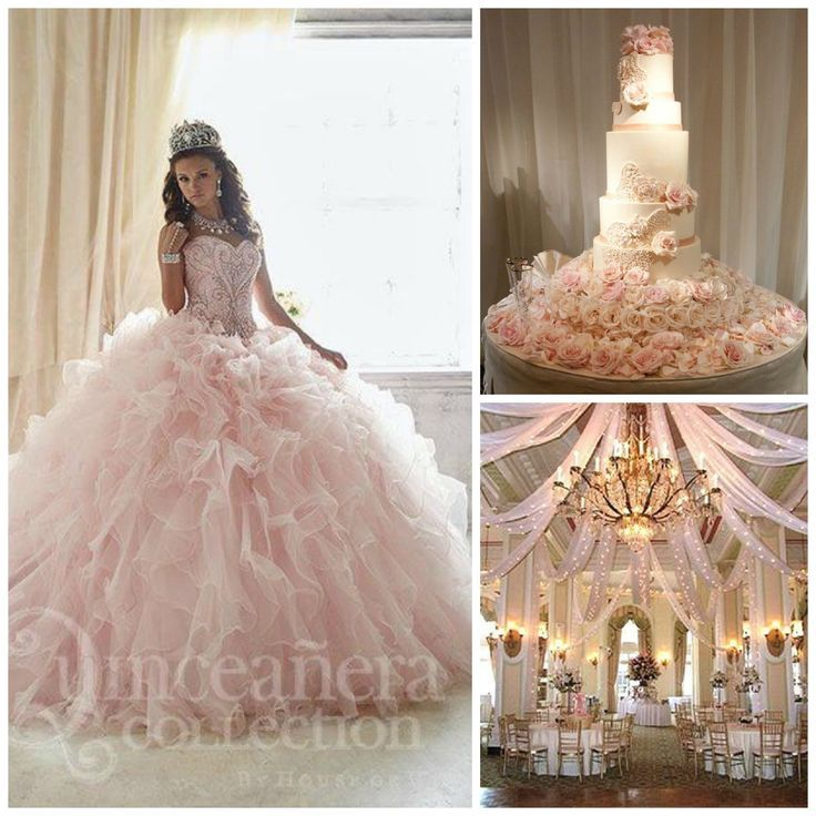 Quinceanera Hall Decorations Pink Quince Theme De...