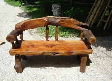 banc de bois   Déco rustique, Mobilier de salon et Meuble jardin