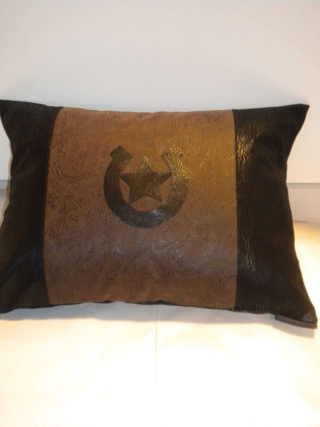 Chocolate Brown Texas Star Western Pillow Cover 20 X 20 ...