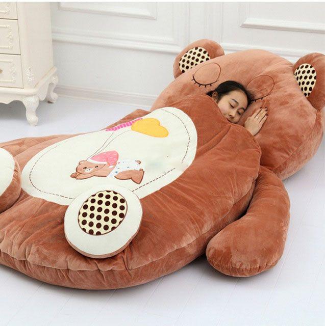 Amazing Giant Sleeping Bag Soft Plush Animal Beanbag Bed Carpet Inzonedesignstudio Interior Chair Design Inzonedesignstudiocom