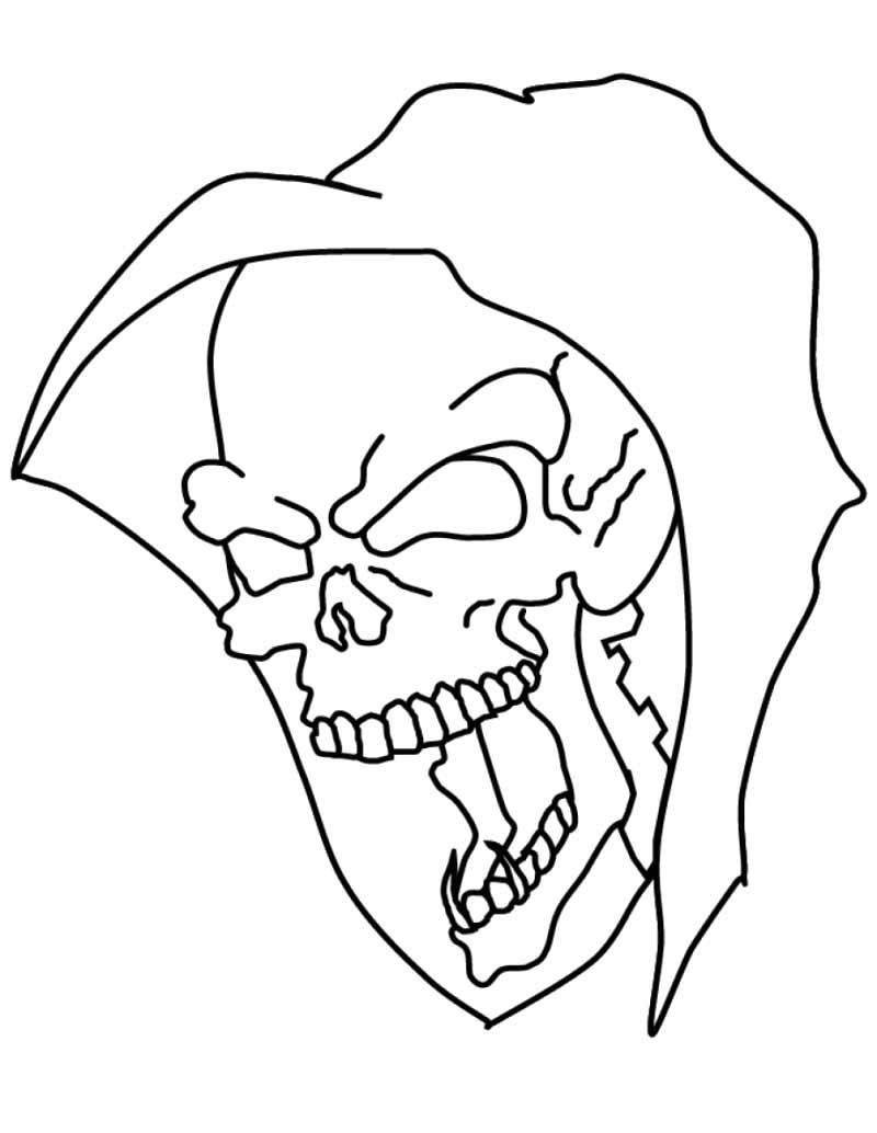 Coloring pictures skulls - I Have Download Halloween Skull Mask Coloring Page