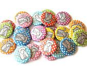 Dog Buttons - Set of 24 Pinback Buttons - Dog Pins. $8.50, via Etsy.
