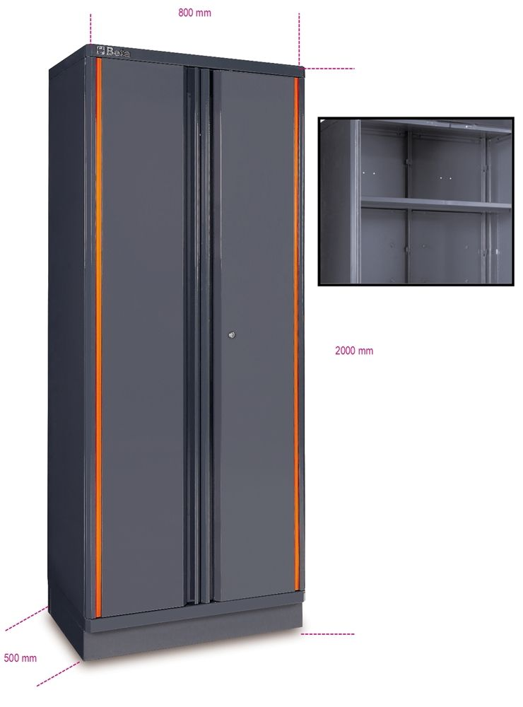 Beta Tools Rc55 A2 Sheet Metal Two Door Tool Cabinet Garage Wall Shelving Tool Cabinet Storage