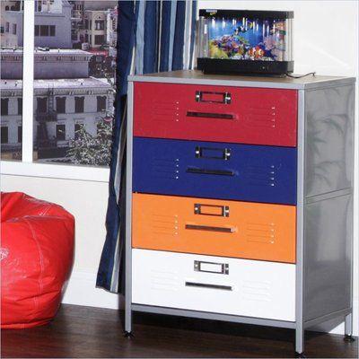 Best 249 06 Elite Products Locker Multicolor 4 Drawer Dresser 640 x 480