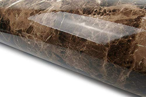 New Very Berry Sticker Marble Look Film Brown High Glossy