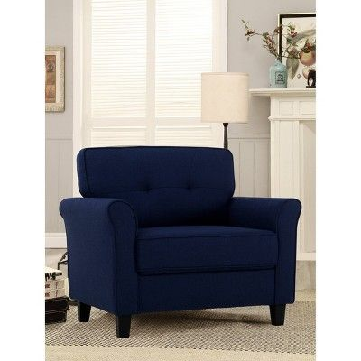 Best Hayward Microfiber Chair Navy Blue Lifestyle Solutions 400 x 300