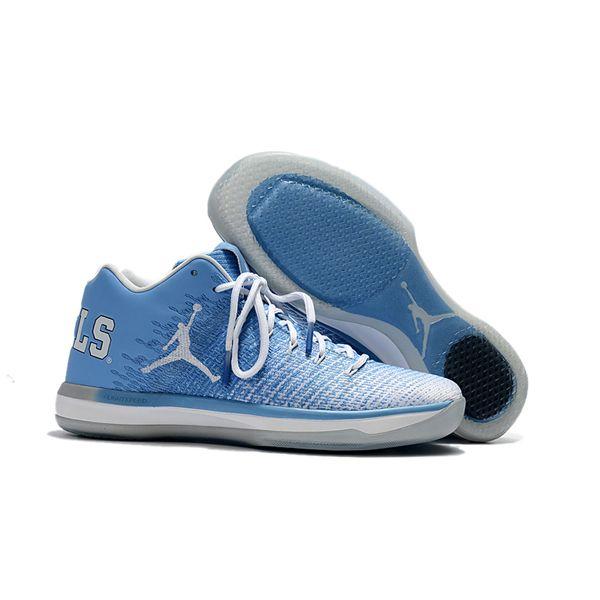 94d45cb4c1a Nike Air Jordan 31 Low UNC Men Basketball Shoes