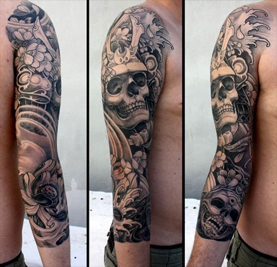 Tattoo Inspiration Samurai Skull Tattoos Pinterest Tatouage
