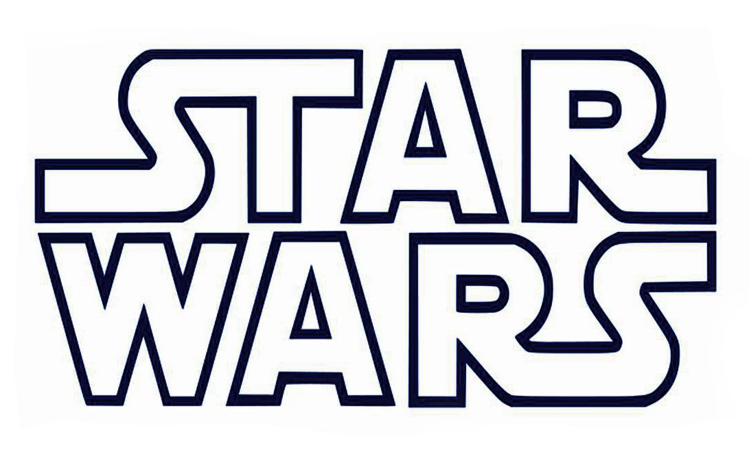 Printable B W Star Wars Logo Star Wars Stencil