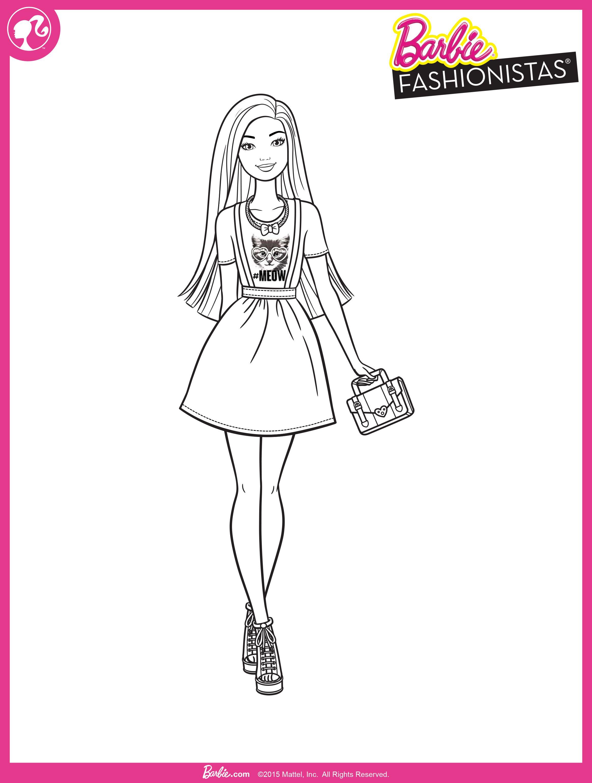 Barbie Fashionistas Colorir Barbie Desenhos Para Colorir Colorir