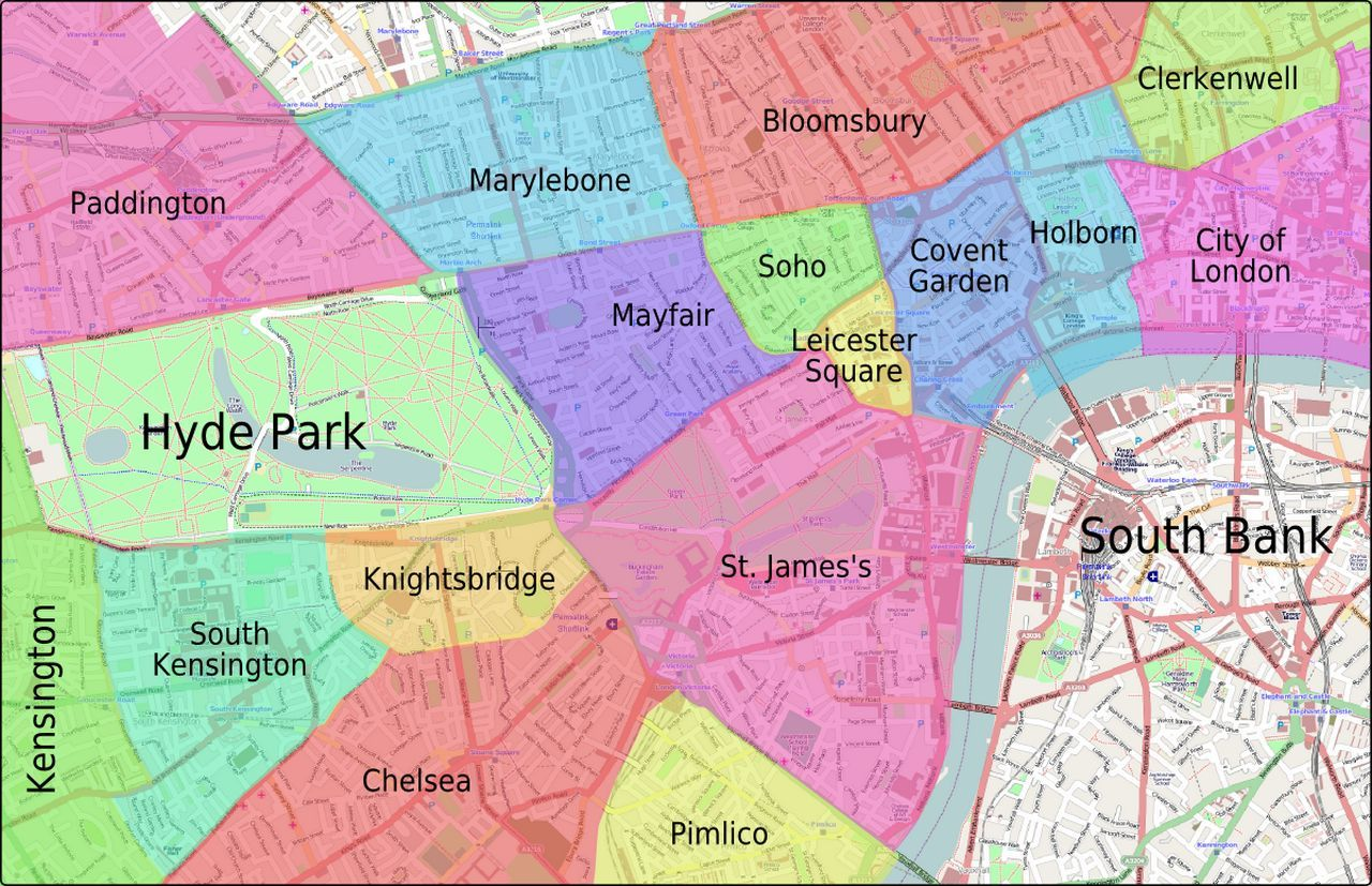 Areas Of Central London Map.Where To Stay In London A Guide To The Best Areas London