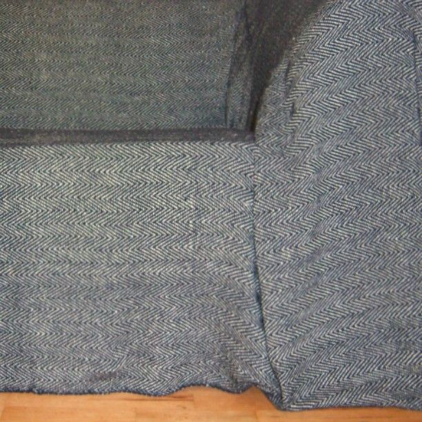 100% Cotton Black and Natural Herringbone Throw for 2 and 3 ...