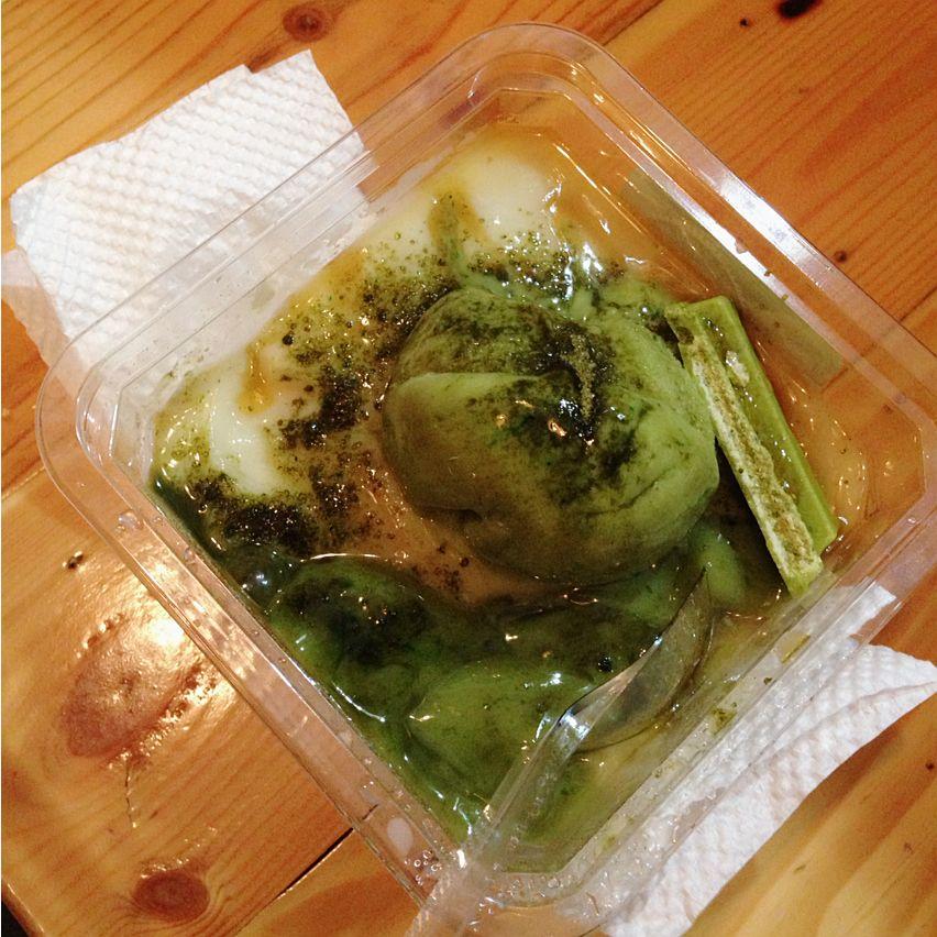 Photo of King fruit, with Green tea Ice Cream, Ovomaltine & Green Tea Topping.