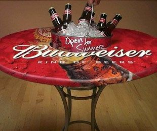 Get your own custom Budweiser table!