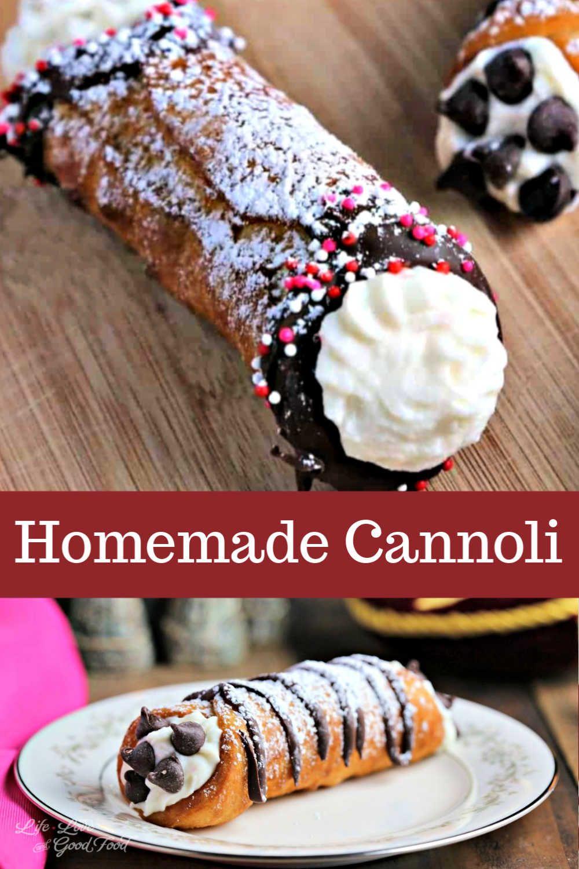 Homemade Cannoli In 2020 Yummy Food Dessert Chocolate Dessert Recipes Food