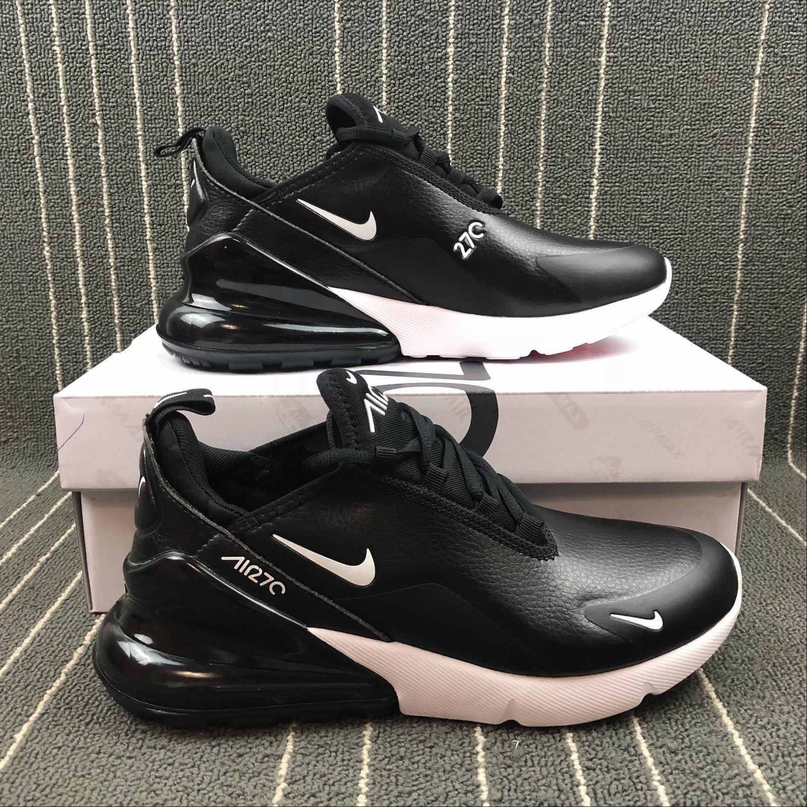 Men's Nike Air Max 270 Flyknit Black White AH8050 002 Boys Running Shoes AH8050 002