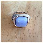 Blue Lace Agate Seidengang Sterling Silver Ring - Agate, blue, Lace, Ring, SeidenGang, silver, Sterling - http://designerjewelrygalleria.com/designer-jewelry-galleria/blue-lace-agate-seidengang-sterling-silver-ring/