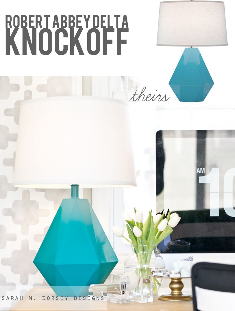 sarah m. dorsey designs: Robert Abbey Delta Lamp Knockoff  Hello Summer project!!