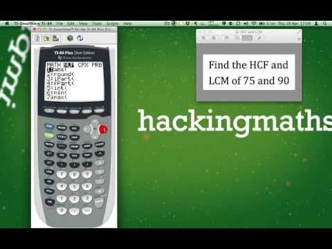 Using the TI-84 plus to find the HCF and LCM of two numbers. | Lcm,  Graphing, Graphing calculator