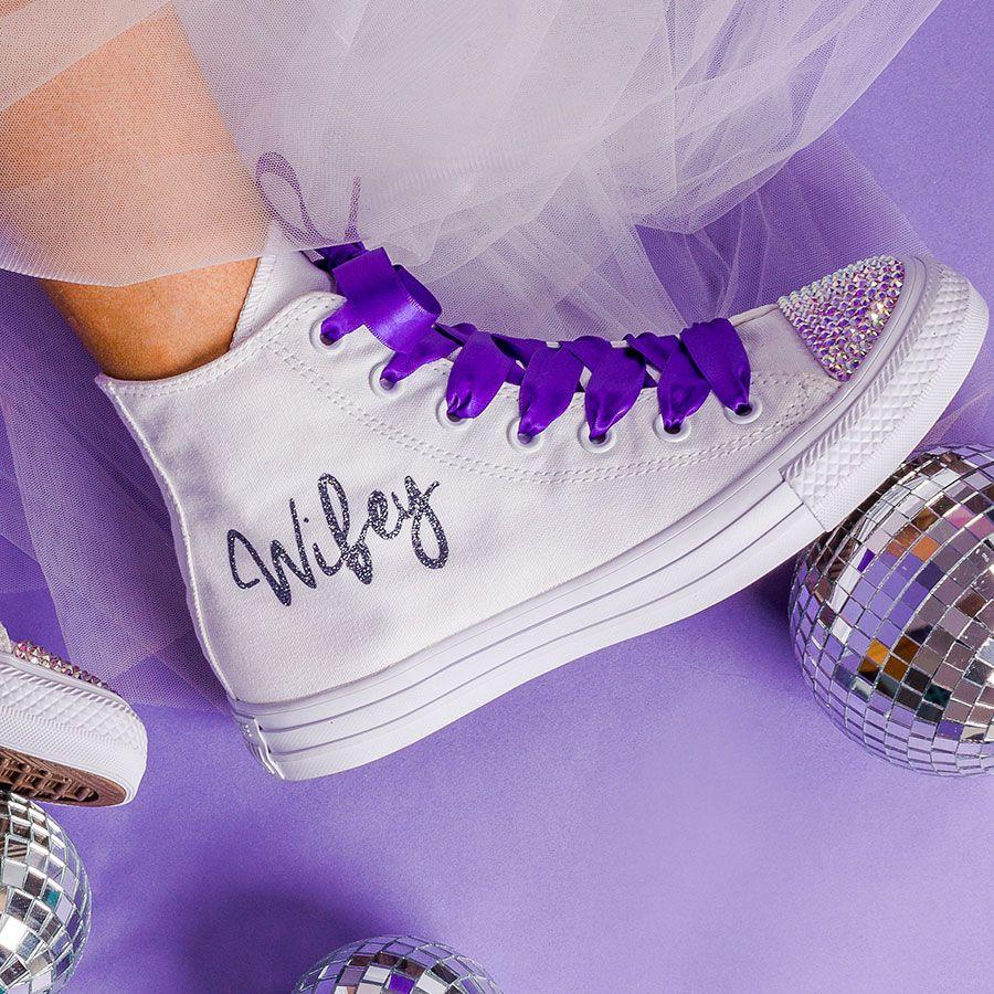 Purple Bride Converse Wedding Converse
