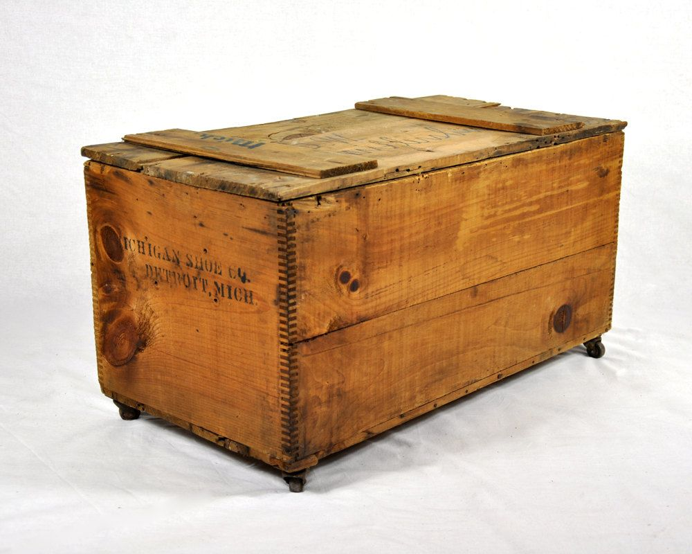 Vintage Wood Extra Large Crate Wooden Shipping Crates