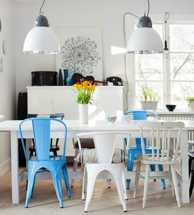 Idées De Chaises Dépareillées Autour De La Table - Table et chaises depareillees pour idees de deco de cuisine