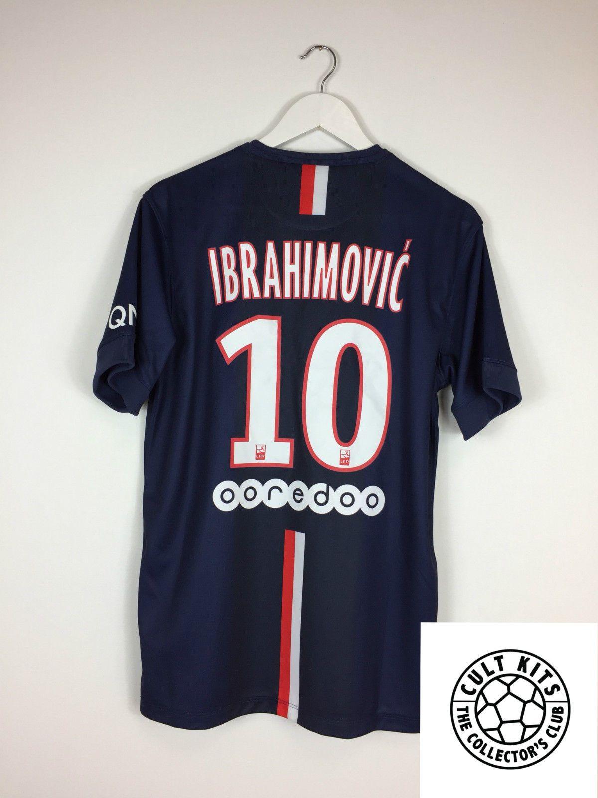 the best attitude 1acd8 b876c PSG IBRAHIMOVIC #10 14/15 Home Football Shirt (M) Soccer ...