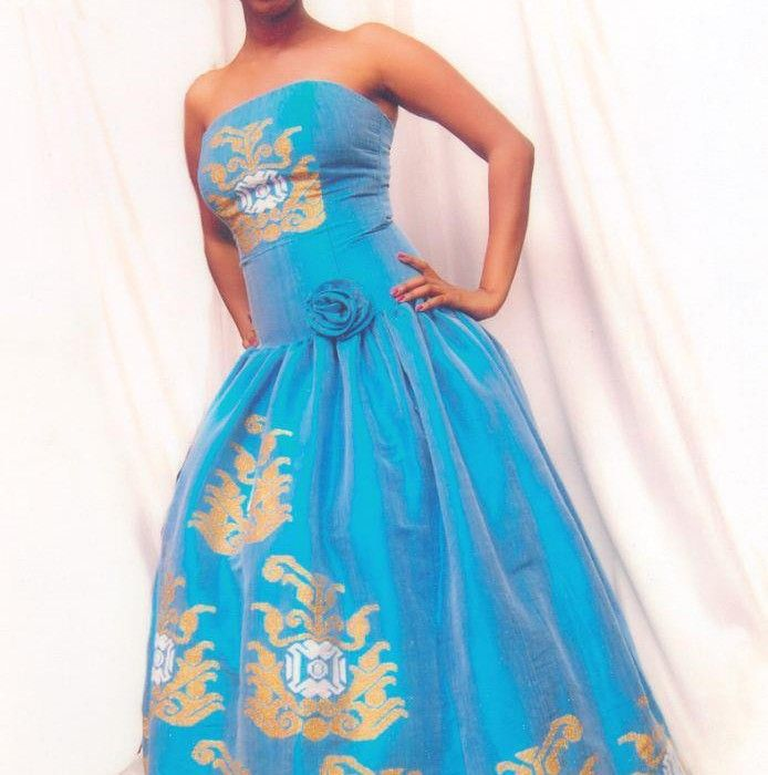 Ethiopian wedding dress blue with golden and white for Habesha dress for wedding