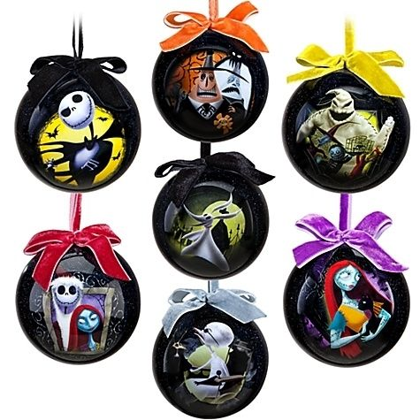 Disney Store Exclusive Nightmare Before Christmas Ornament Set Jack Skellington | eBay