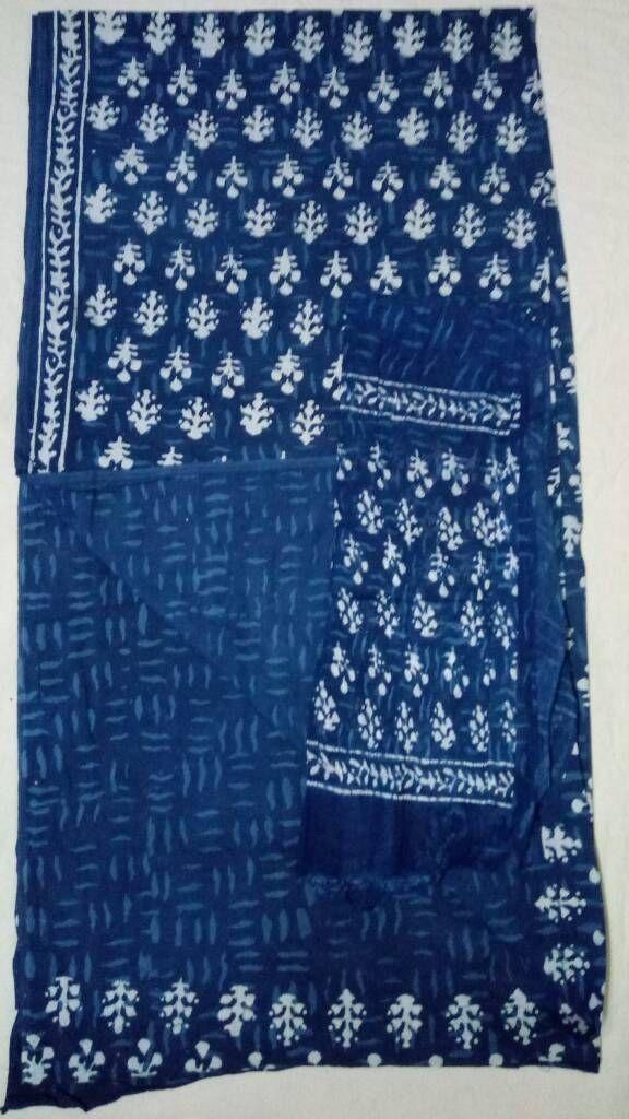 ce51d53b67 Pure Jaipur Cotton Dress Material Top: Pure cotton Print: Indigo print  Bottom: Pure