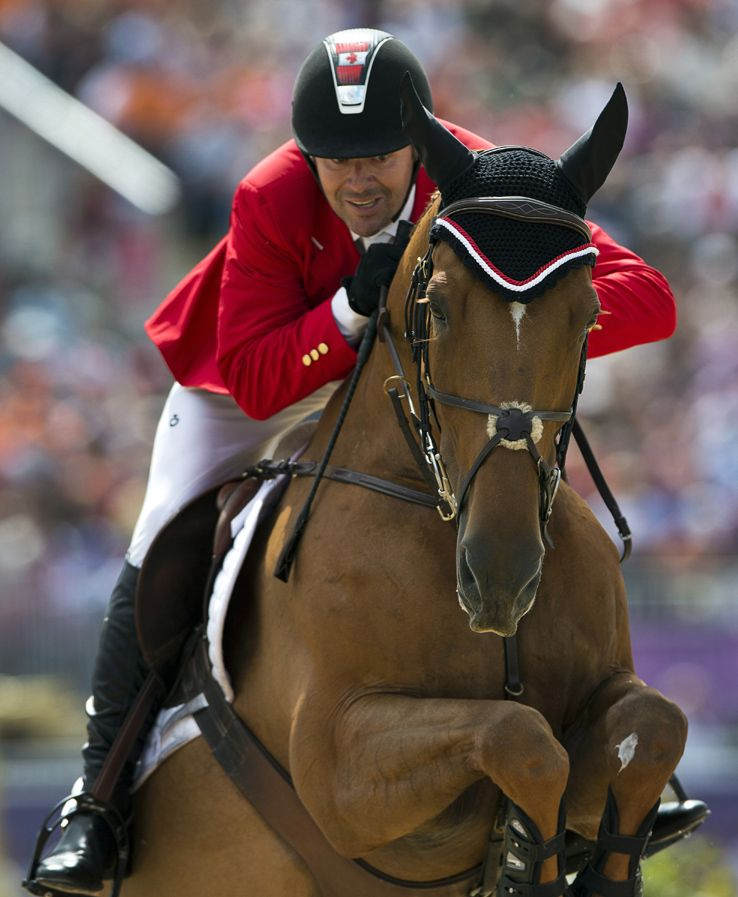 2008 Olympic Gold Medalist Eric Lamaze and his horse Derly