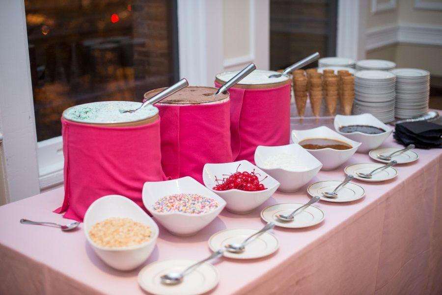 Washington Dc Wedding Ice Cream Sundae Bar