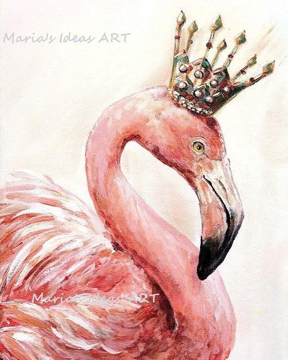 Flamingo art Pink Flamingo wall art Bird print Bird wall