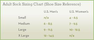 Smartwool Socks Size Chart
