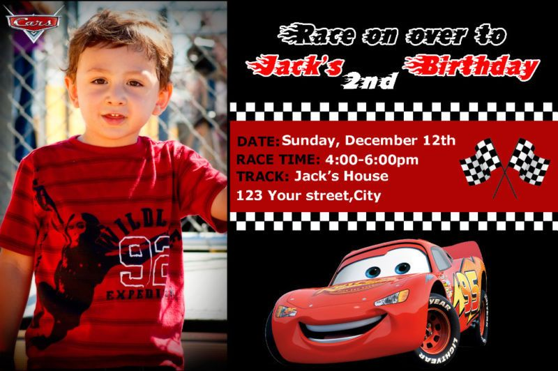 disney cars birthday invitation templates | invitation sample, Birthday invitations