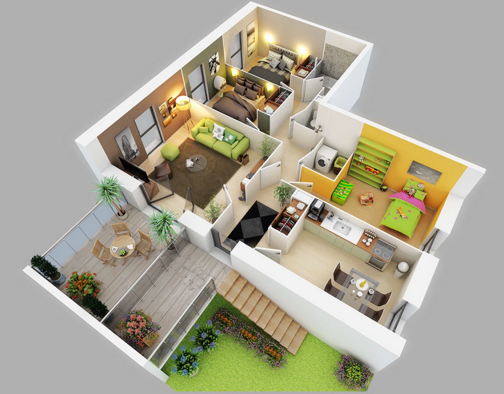 Three Bed Room Home Condo Flooring Plans Http Www