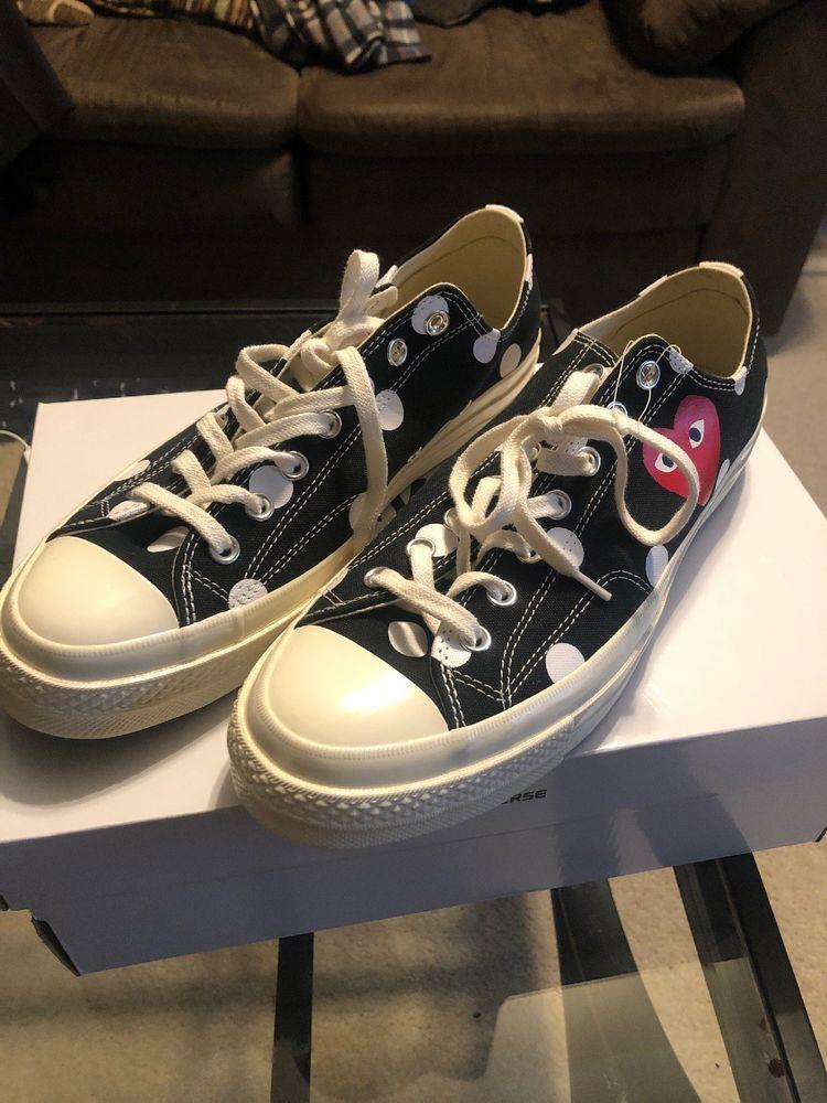 48a1e415492 comme des garcons converse size 11 polka dot  fashion  clothing  shoes   accessories  mensshoes  athleticshoes (ebay link)