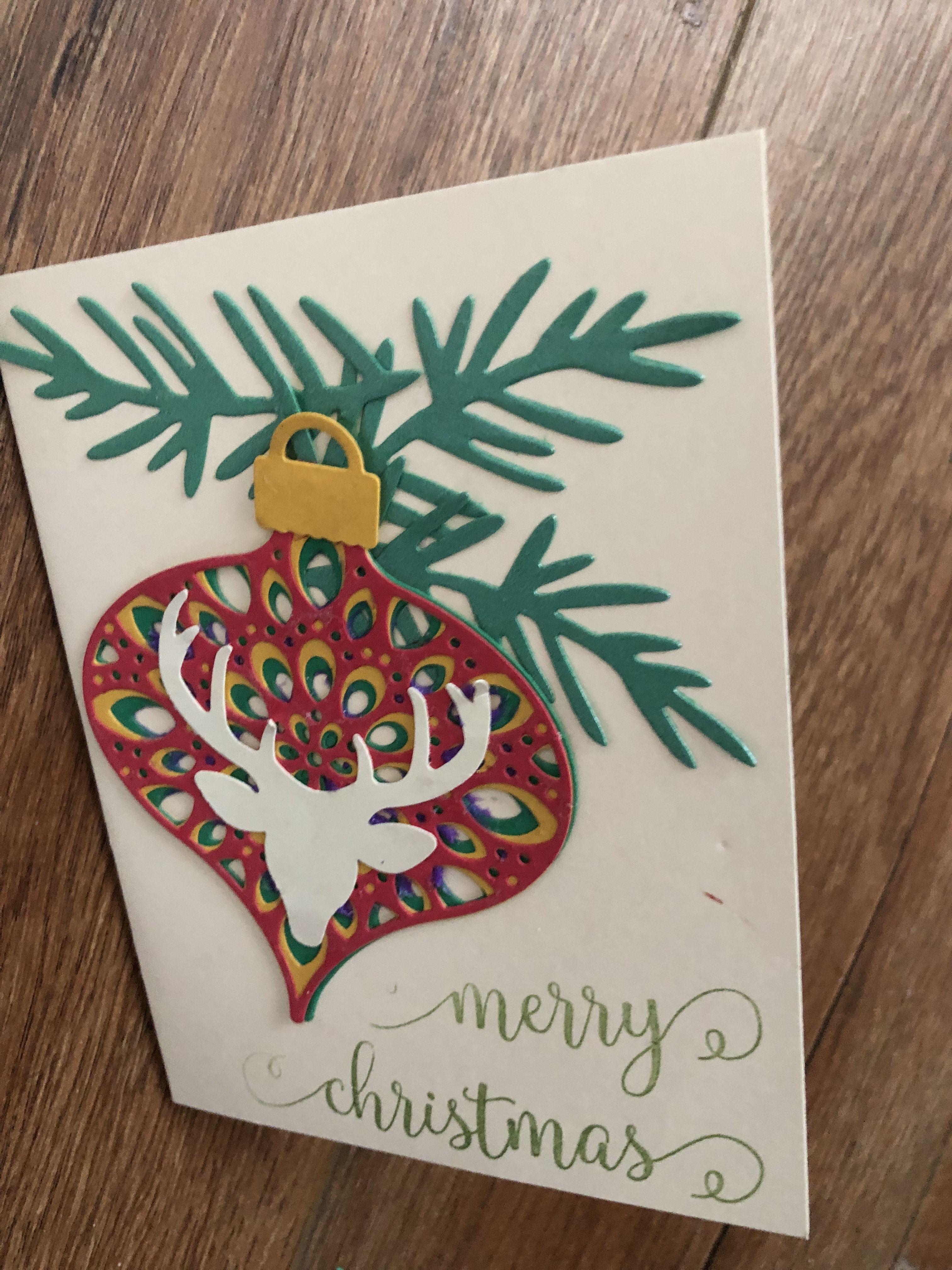 Birch Press Radiant layered ornament die Cards