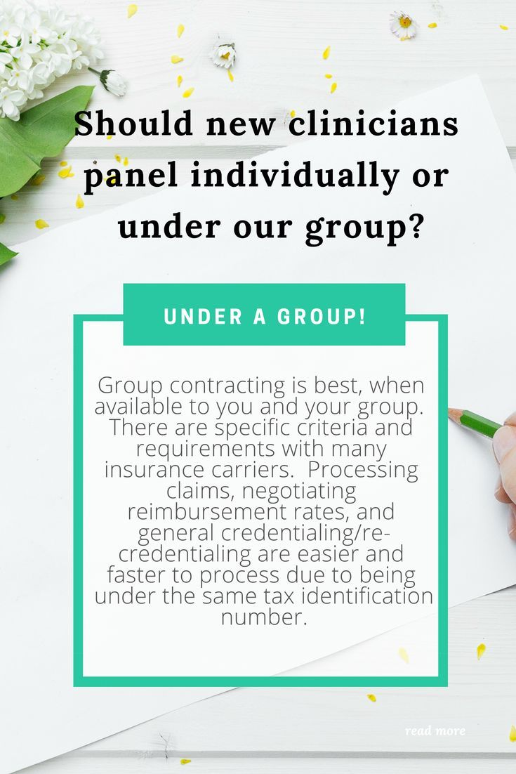 Private practice - Should we credential under a group or ...