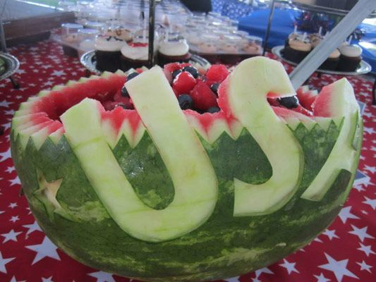 Pat o brien s patriotic watermelon carvings americana and the