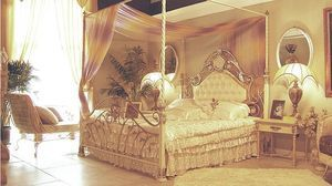 classic style canopy double bed HC-010W KAISER Stylish Furniture
