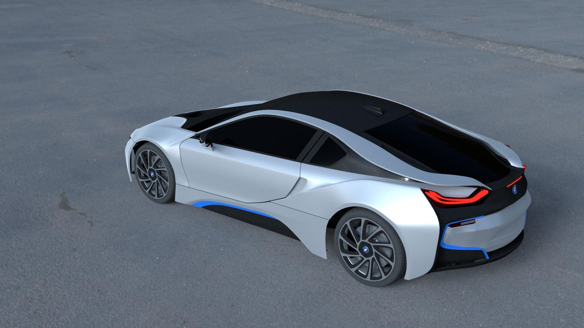 BMW i8 White HDRI #BMW, #HDRI, #White   Bmw i8, Bmw ...
