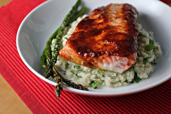 Roast Salmon with Sweet Chipotle Glaze