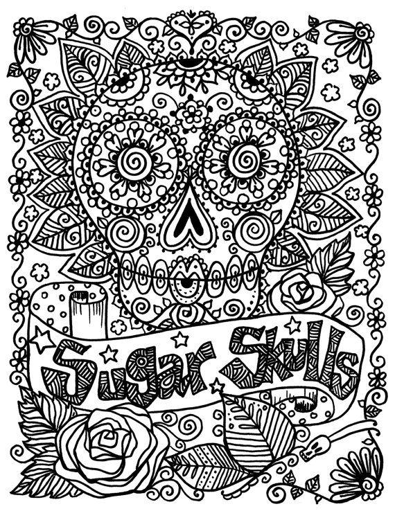 sugar skulls coloring pages free